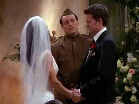 Friends Chandler And Monica S Wedding Ceremony Youtube