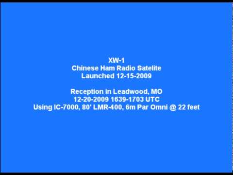 XW-1 Ham Radio Satellite Reception Report