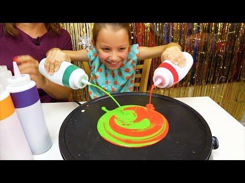 Christmas Pancake Art Challenge Блинный ЧЕЛЛЕНДЖ На Новый Год 2019  // Вики Шоу