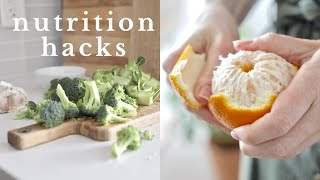 NUTRITION HACKS | 12 easy ways to eat healthier