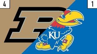 4 Purdue vs. 1 Kansas Prediction | Who
