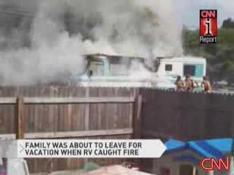 iReporter caputures RV burning Video