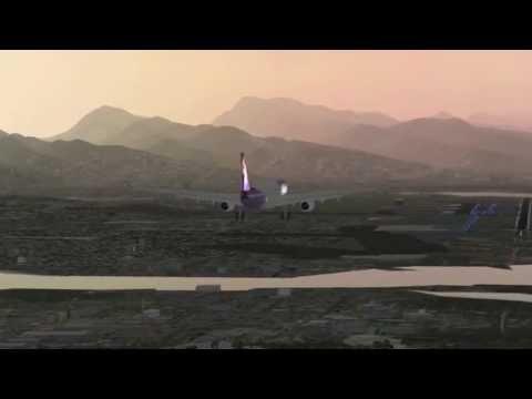 Hawaiian Airlines Airbus A330-343 landing at Honolulu Intl