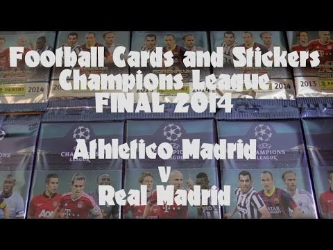 FOOTBALL CARDS & STICKERS CHAMPIONS LEAGUE FINAL 2014 ☆ ATLETICO v REAL MADRID ☆ adrenalyn xl