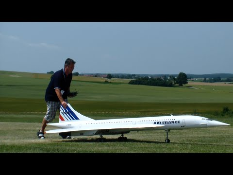 Low Pass R/C Concorde Air France Scale Twin-turbine Model Jet