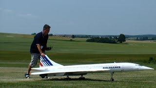 Low Pass R/C Concorde Air France Twin-turbine Model Jet