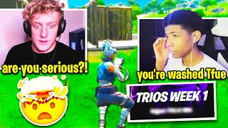 TFUE *SHOOK* when UNKNOWN REFUSES to TRIO w/ Him in SEASON 3! (Fortnite)