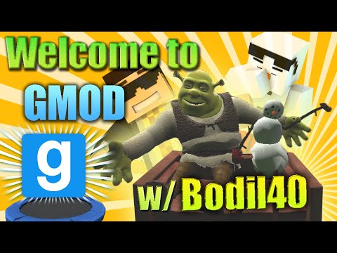 [BRAND NEW] WELCOME TO GMOD - TRAMOPOLINE DEATH RACE - GMOD Random Funny Moments /w Bodil40 klip izle