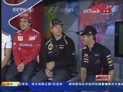 Especial Interview with 6 WDC CCTV 5 at Chinese GP 2012