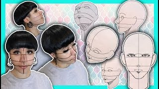 ?How to Draw FACES IN DIFFERENT ANGLES EASILY!! ?Realism, Manga,Comics ?
