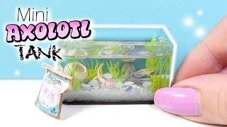 How To Mini Axolotl Tank Tutorial // DIY Miniature Aquarium