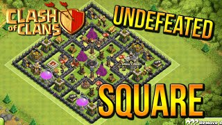 """UNDEFEATED SQUARE!"" - Town Hall 8 FARMING BASE (CoC TH8) BEST Base Layout 2015"