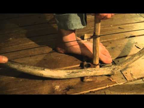 Bow Drill Fire with HIckory on Eastern Red Cedar