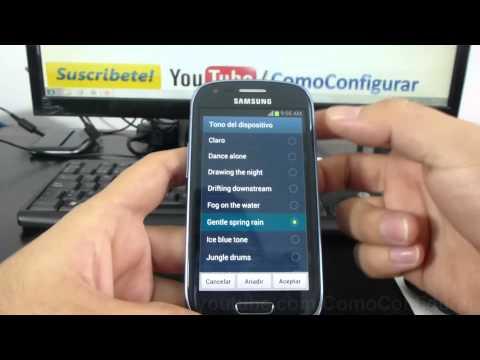 Como cambiar ringtone a samsung Galaxy s3 mini i8190 español Full HD