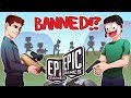 WE'RE ALL GETTING BANNED FOR WRECKING EPIC GAMES DEVELOPERS IN FORTNITE!