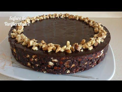 Pratik Pişmeyen Çikolatalı Pasta - Sütsüz Kolay Bisküvili Mozaik Pasta Tarifi