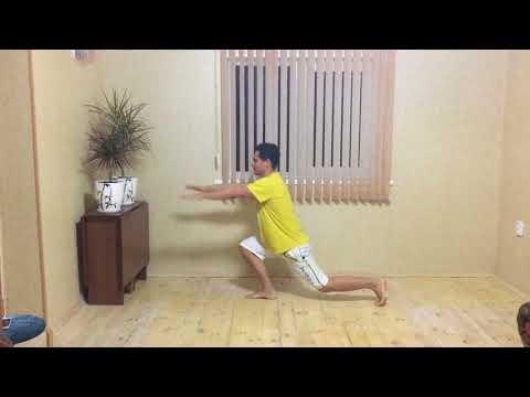 Кардио упражнения для похудания   Прыжки с выпадами назад