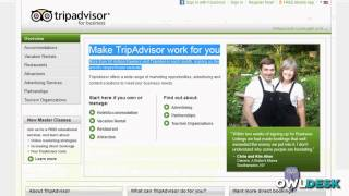 TripAdvisor:  Business account