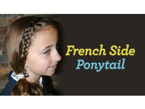 Cute Girls Hairstyles | Tween French Pony