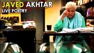 Javed Akhtar writing POETRY at his home with Shabana Azmi