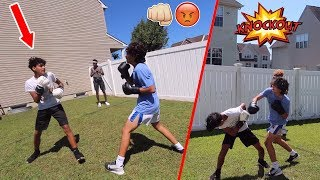 BOXING MY SCHOOL BULLY... *CRAZY BRAWL*