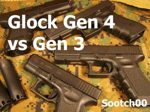 Glock Gen 4 vs Gen 3 Pistols