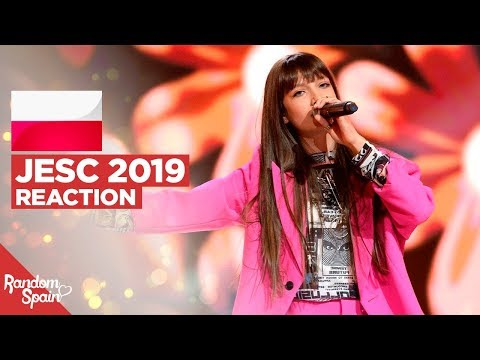 REACTION Viki Gabor - Superhero | Poland Junior Eurovision 2019