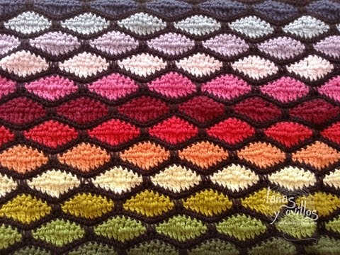 Tutorial Punto Ondas Crochet o Ganchillo Wave Stitch