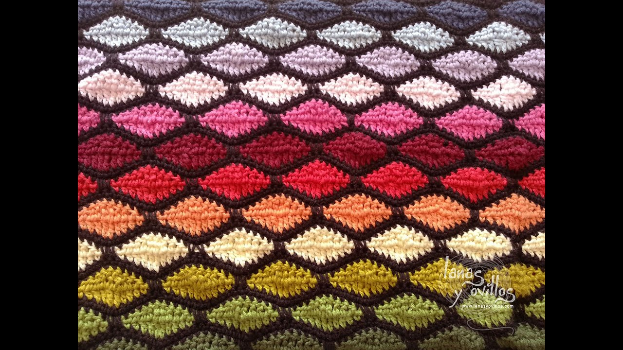 Crochet Wave Stitch : Tutorial Punto Ondas Crochet o Ganchillo Wave Stitch - YouTube