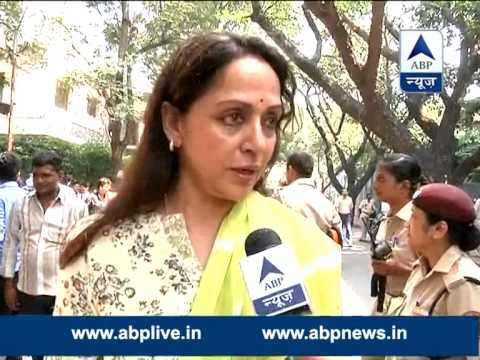 BJP MP Hema Malini casts vote l Praises PM Modi, says public need to extend their support to him