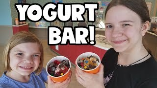 Frozen Yogurt Dessert Bar!