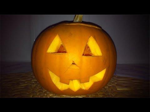 Como fazer uma ab bora de halloween youtube - Como hacer calabaza halloween ...