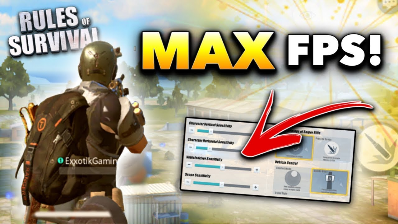 Rules of Survival BEST Settings to WIN!! (Tips and Tricks)