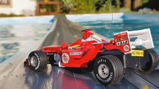 Atravessando a Piscina com um Carro de Fórmula 1!!
