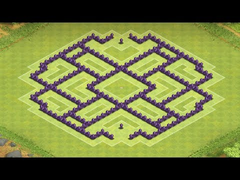 Clash of Clans - Best Town Hall 8 Farming Base 2014 (Fortress)