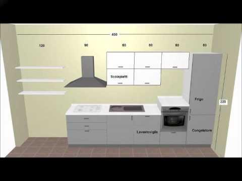 Cucina Moderna in Rovere Grigio e Bianco - YouTube
