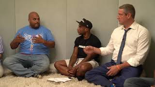 Tim Ryan And Charlamagne Tha God Practice Breathing Techniques To Reduce Anxiety