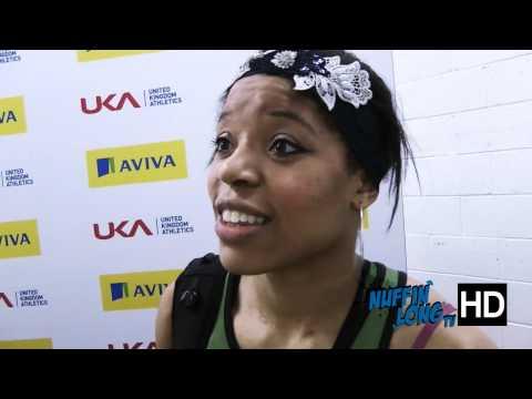 Nuffin'Long TV (Indoor long jump Trials) - Post Race Interview with Abigail Irozuru (HD)