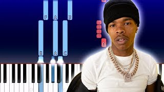 Lil Baby - Woah (Piano Tutorial)