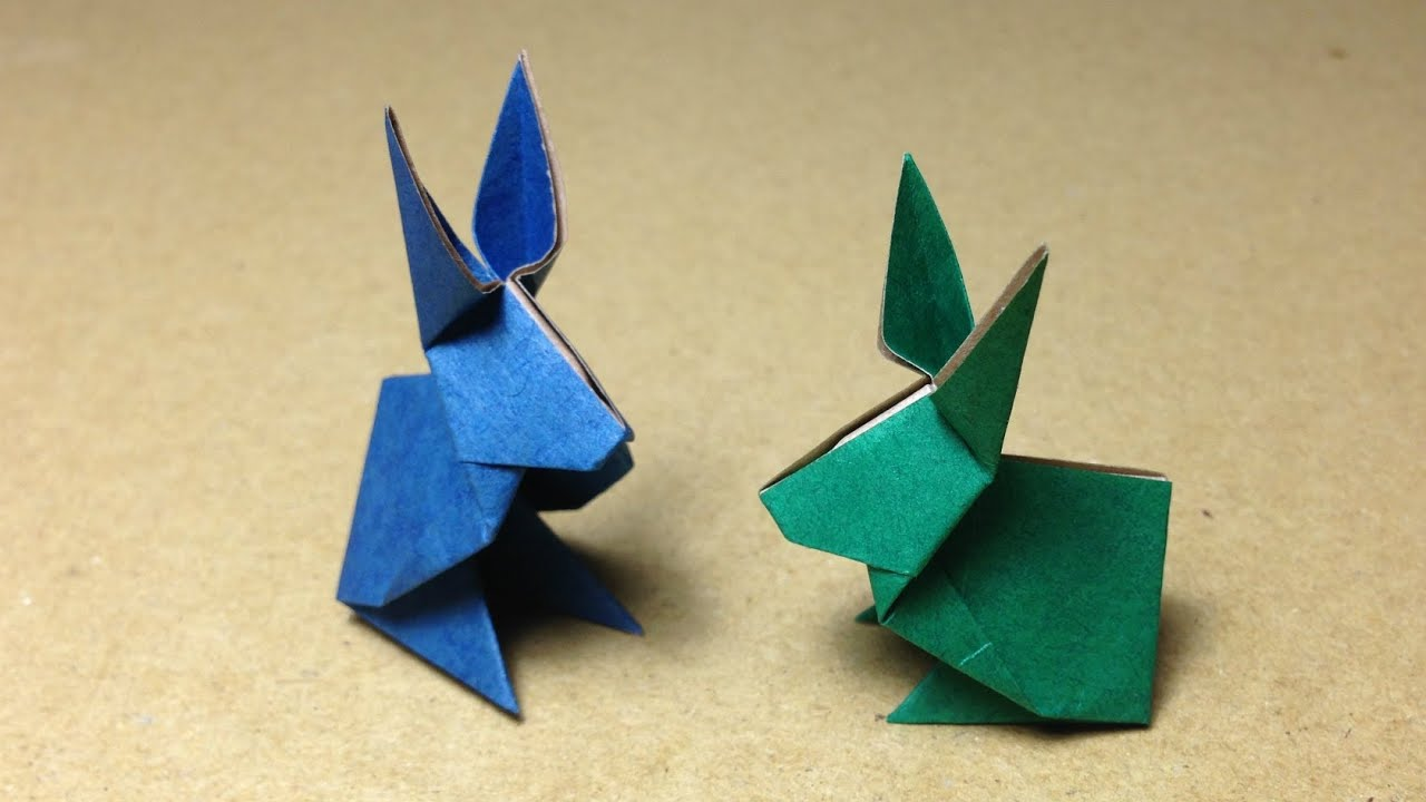How to make an Origami Rabbit  YouTube