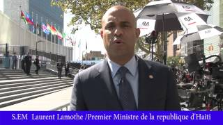 VIDEO: Haiti - PM Laurent Lamothe explike an detay tout sa li pwal Diskite andedan Nation Unis