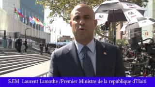 Laurent Lamothe at UN, We can't let 6 Senators Extremist block progress