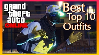 Best Top 10 Current Outfits | GTA 5 Online Gameplay (PS4 Pro)