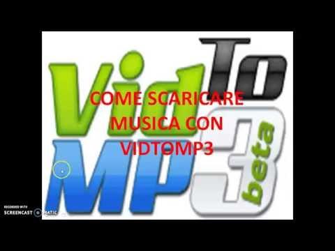 come scaricare musica con vidtomp3