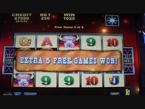 Buffalo Moon BIG BIG WIN MAX BET Slot Machine Bonus Round Free Games + RETRIGGERS!