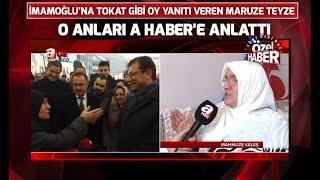 SON DAKİKA! Ekrem İmamoğlu'na tepki gösteren teyze A Haber'e konuştu