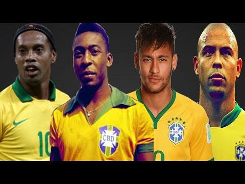 The LEGENDARY Brazilian Way to Play Football ● Pelé - Ronaldo - Ronaldinho - Neymar