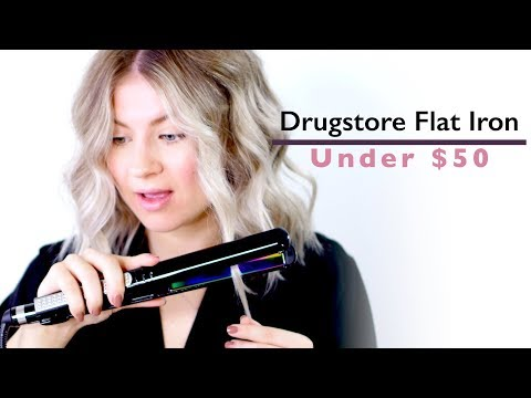 THE BEST DRUG STORE FLAT IRON?! | Milabu