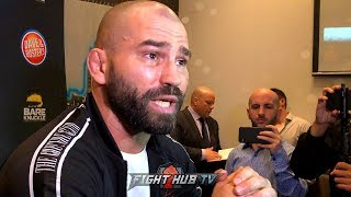 """ARTEM LOBOV """"PAULIE IS JUST A P****! HE HIDES BEHIND THE JAB! HES DOG S***!"""""""