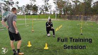 FULL SESSION   Loads of different football drills   Bailey Chapo   Joner 1on1